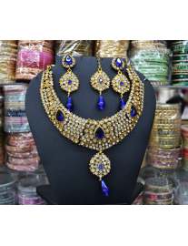 Royal Blue Kundan