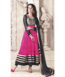 Majenta Pink Anarkali Churiar Suit