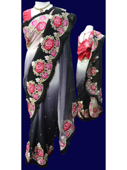Pure Gerogette Shaded Saree