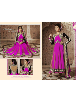 Semi Georgette Churidar Suit