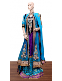 Raw Silk Lahenga with Jacket