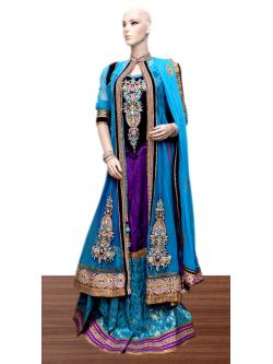 Raw Silk Lahenga with Jacket